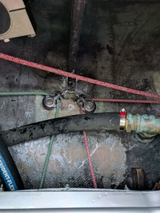 Temporary Repairs to Self Steering Vane System