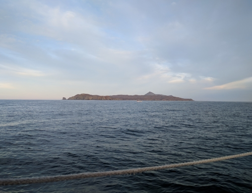 Sailing down the coast of Baja California